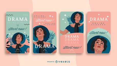 Drama School Social Story Design Pack