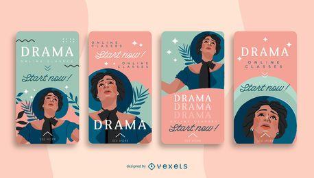 Paquete de diseño de historia social de la escuela de teatro