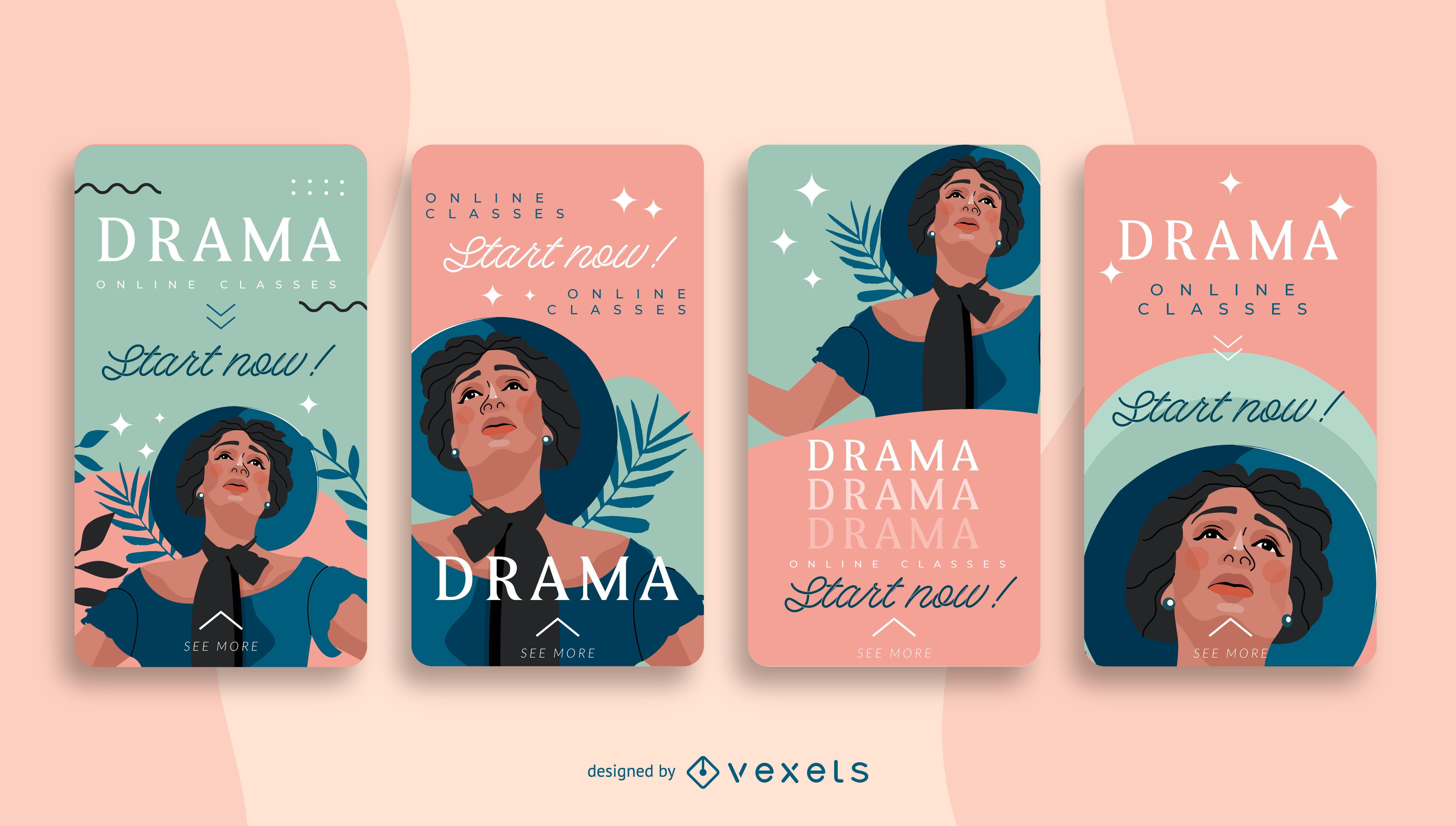 Pacote de Design de História Social da Escola de Drama