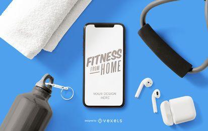 Fitness von zu Hause Telefon Modell