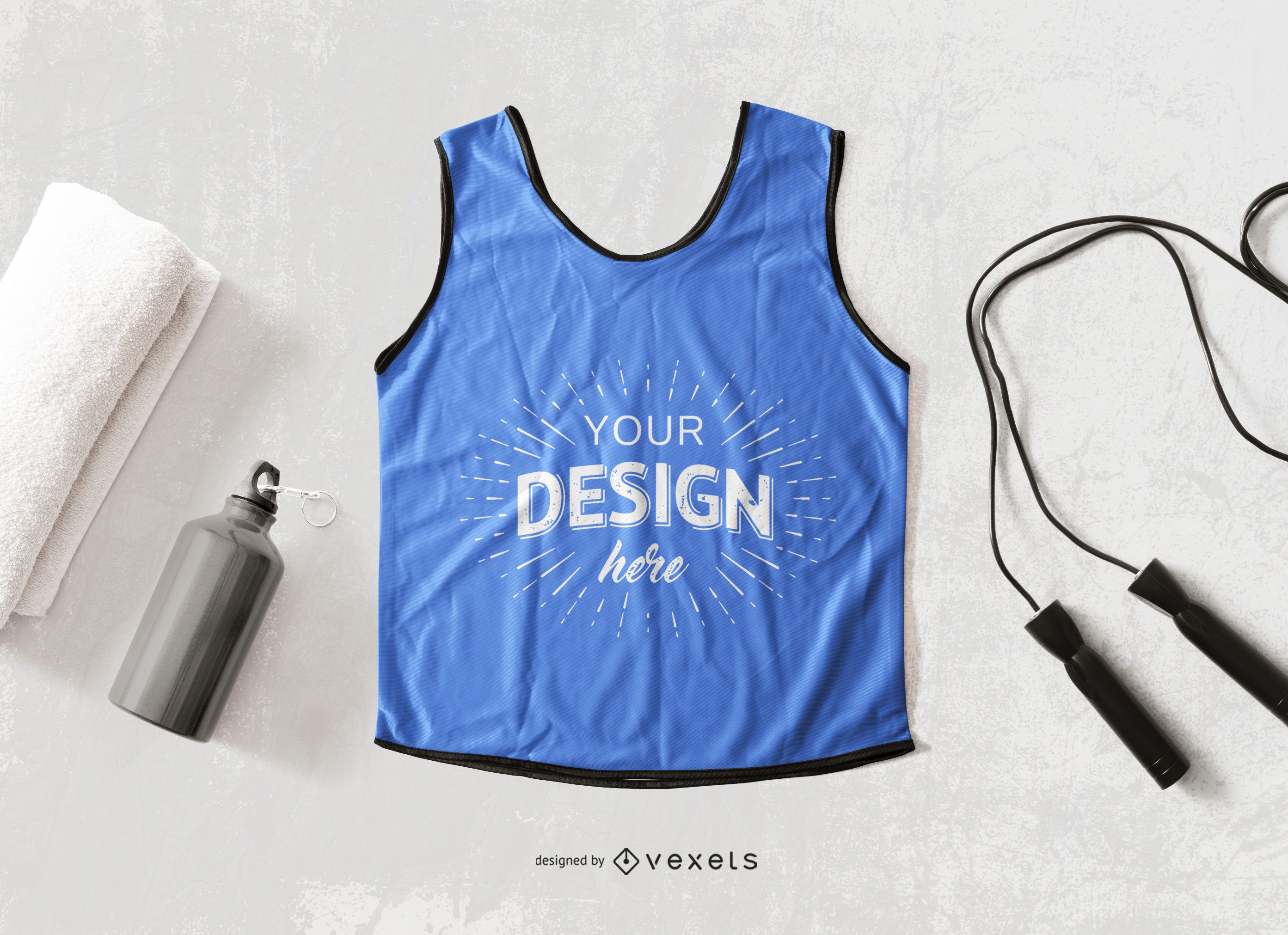 Tank top workout mockup composition