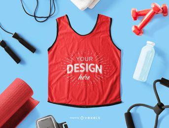 Composición de maqueta de camiseta sin mangas