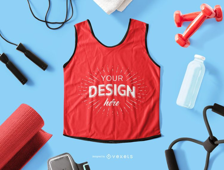 Tank top mockup composition