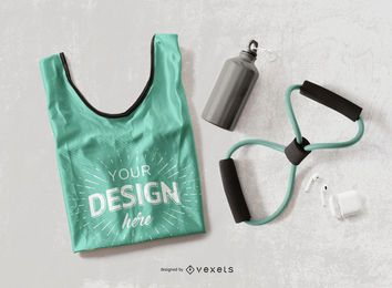 Fitness tank top mockup design