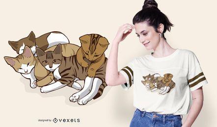 Diseño de camiseta Cute Kitties