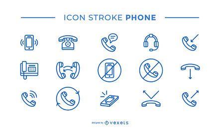 Paquete de iconos de trazo del teléfono
