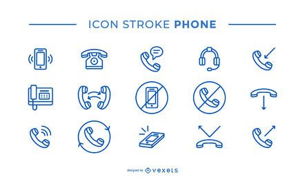 Phone Stroke Icon Pack