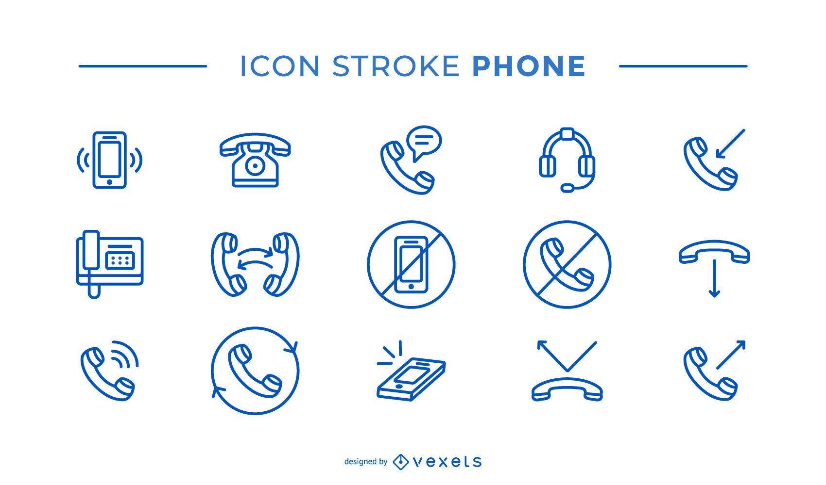 Paquete de iconos de trazo de teléfono