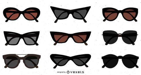 Paquete de gafas de sol planas oscuras