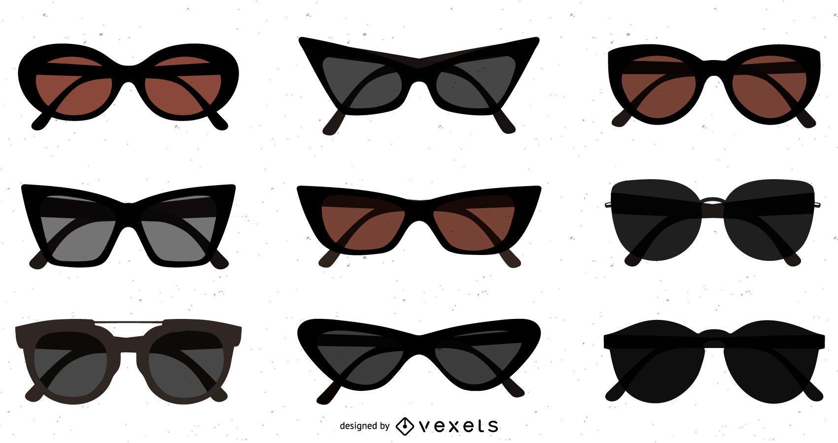 Flat Dark Sunglasses Pack