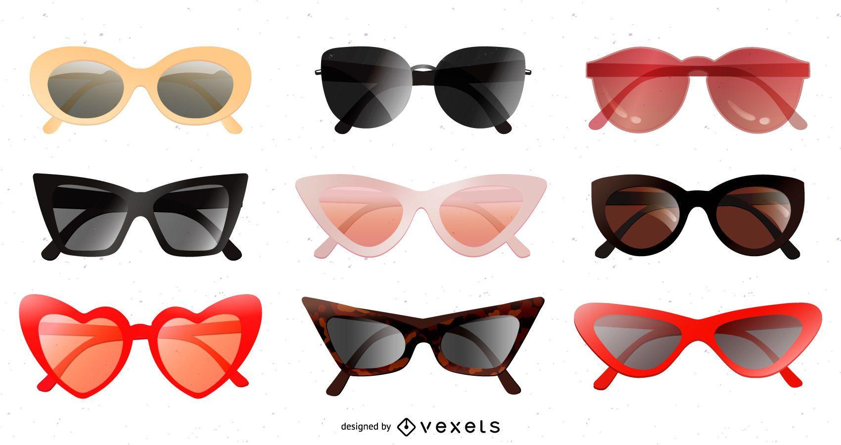 Glossy Sunglasses Design Pack