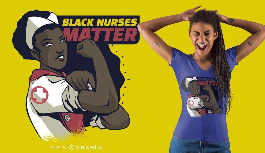 Black Nurses Matter T-shirt Design