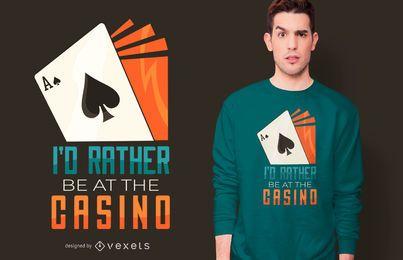Design engraçado do t-shirt das citações do casino