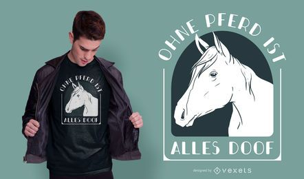 Diseño de camiseta alemana de cita de caballo