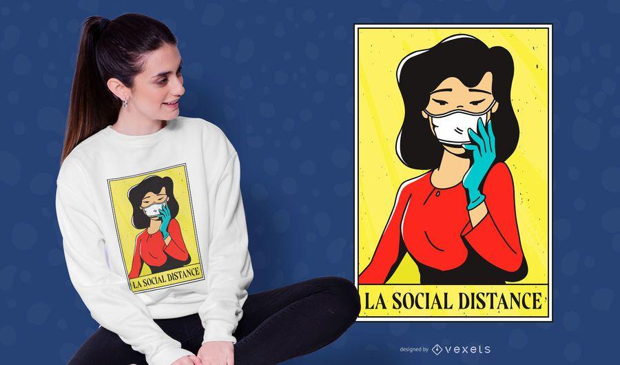 Social Distance Girl T-shirt Design