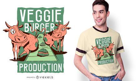 Diseño de camiseta divertida de Veggie Burger
