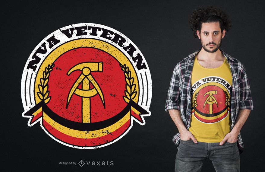 National People's Army Veteran T-shirt Design