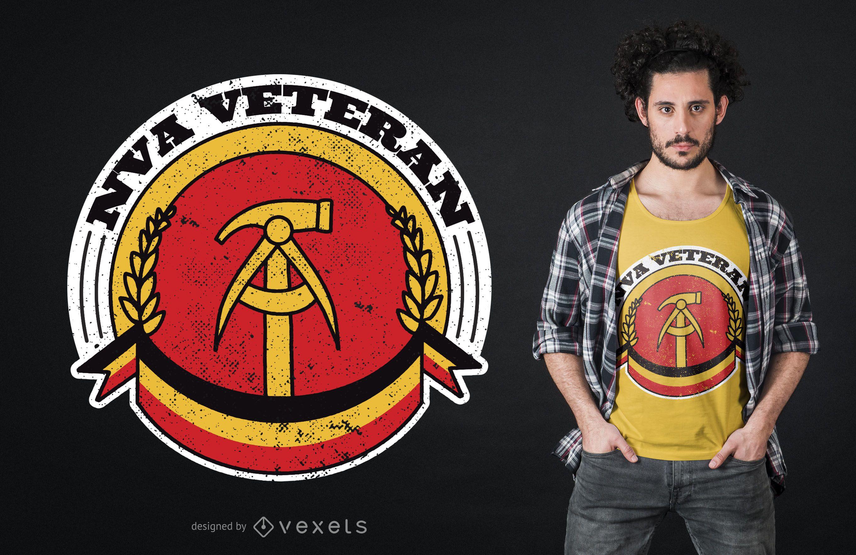 Diseño de camiseta de veterano del Ejército Popular Nacional