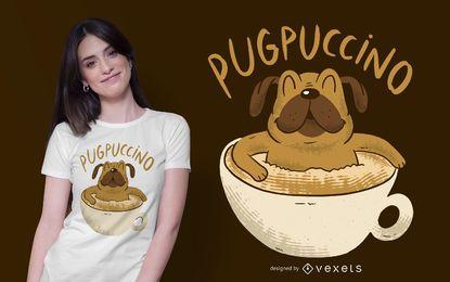 Diseño de camiseta Cappuccino Pug