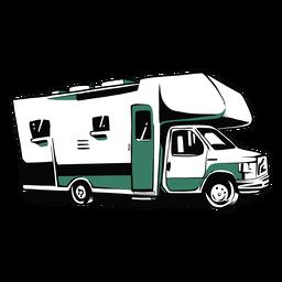 Ilustração de trailer rv