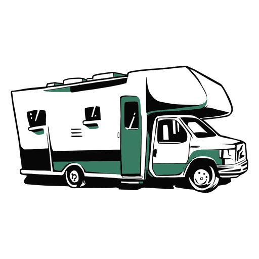 Rv trailer illustration Transparent PNG