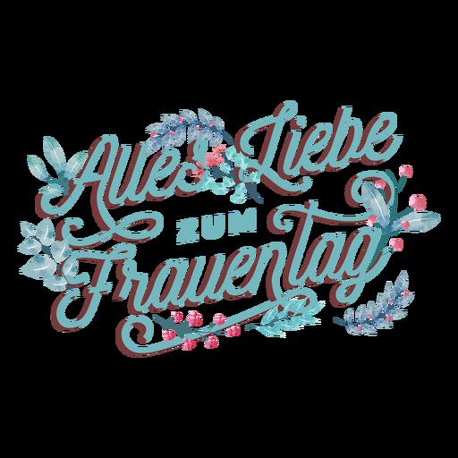 Alles liebe zum frauentag lettering