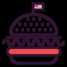 Icono de hamburguesa americana