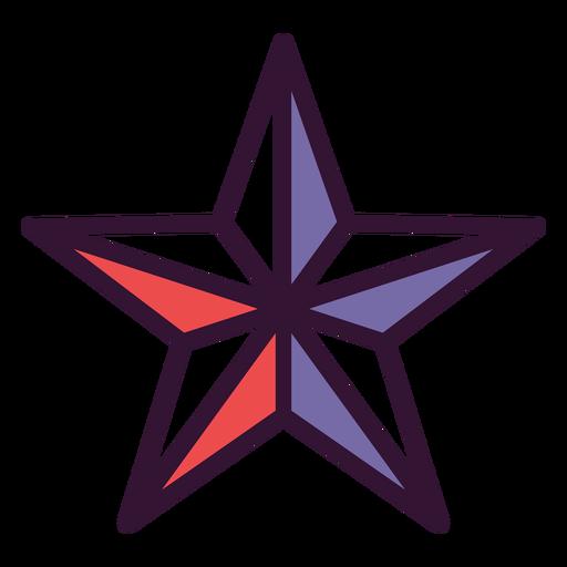 Icono de estrella americana Transparent PNG