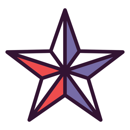Icono de estrella americana
