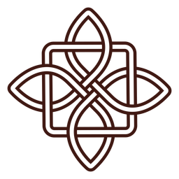 Trazo de nudo celta antiguo