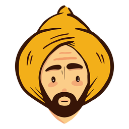Arab man head turban