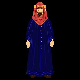Carácter hijab hombre árabe