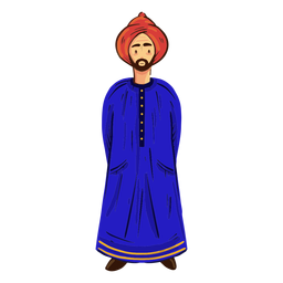 Arab man turban character