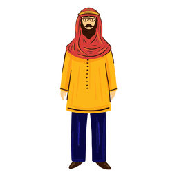 Arab man with glasses character