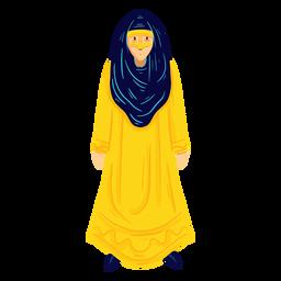 Carácter de mujer árabe