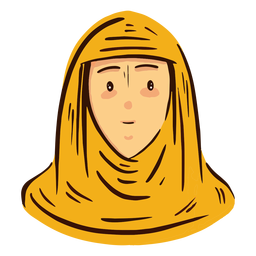 Arab woman head