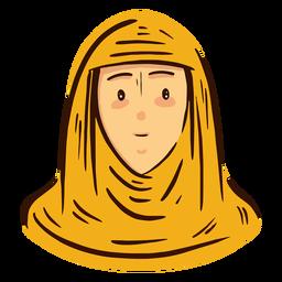 Cabeza de mujer árabe