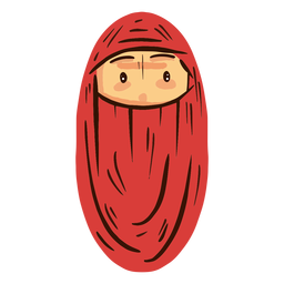 Arab woman head niqab