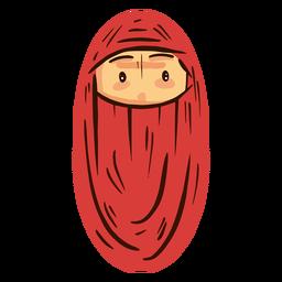 Mujer árabe cabeza niqab