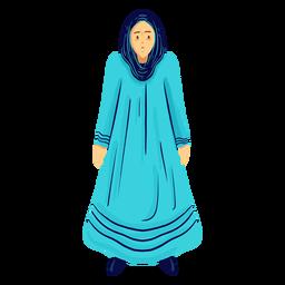 Carácter hijab mujer árabe