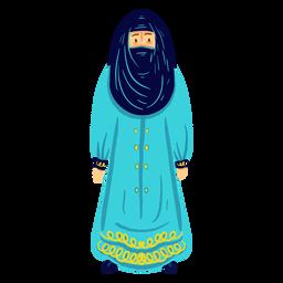 Carácter niqab mujer árabe