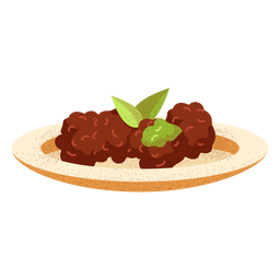 Arabic food falafel illustration