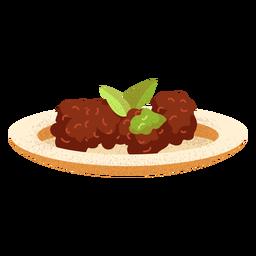 Ilustración de falafel de comida árabe