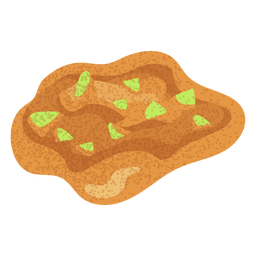 Arabic food hummus illustration