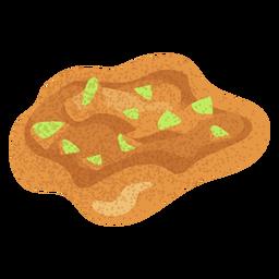 Ilustración de hummus de comida árabe