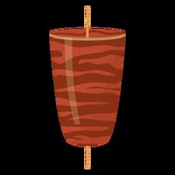 Ilustración de kofta de comida árabe