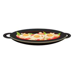 Ilustración de comida árabe shakshuka
