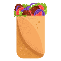 Arabic food shawarma illustration
