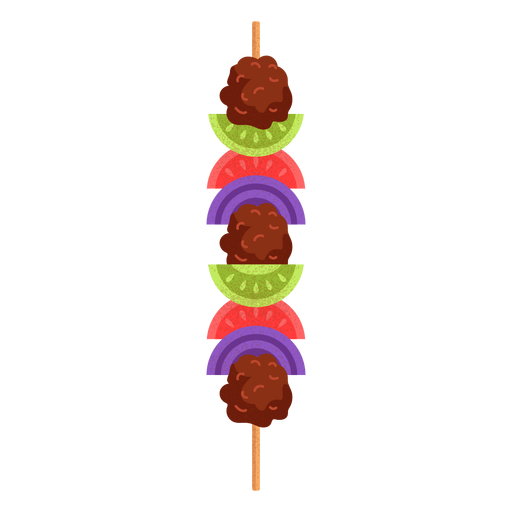 Arabic food shish kebab illustration Transparent PNG