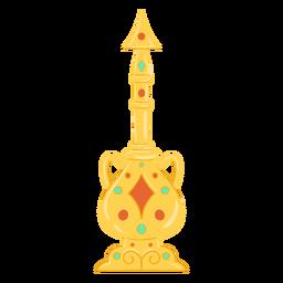 Vajilla de objetos árabes
